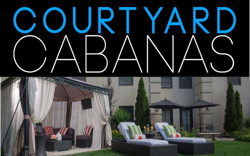 AVAILABLE MEMORIAL DAY WEEKEND - LABOR DAY WEEKEND Private Courtyard Cabana w/ access to heated pool, hot tub & outdoor bar FOR RESERVATIONS CALL 516-224-8181 or EMAIL info@theinnatfoxhollow.com      3 HOUR RENTAL = $200*  ($50* each additional hour) FEATURES: Personal Cabana Attendant Plush Seating for up to 10 guests (6) Water Bottles Pool Towels Privacy Shades Wireless Internet Two Padded Chaise Lounge Chairs with Boca Terry Cloth Covers * Tax & gratuity additional.  Full payment due 48 hours prior to arrival